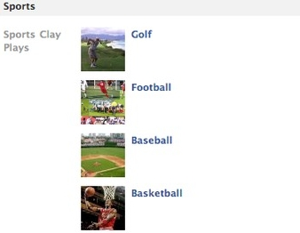 Facebook Sports Interests