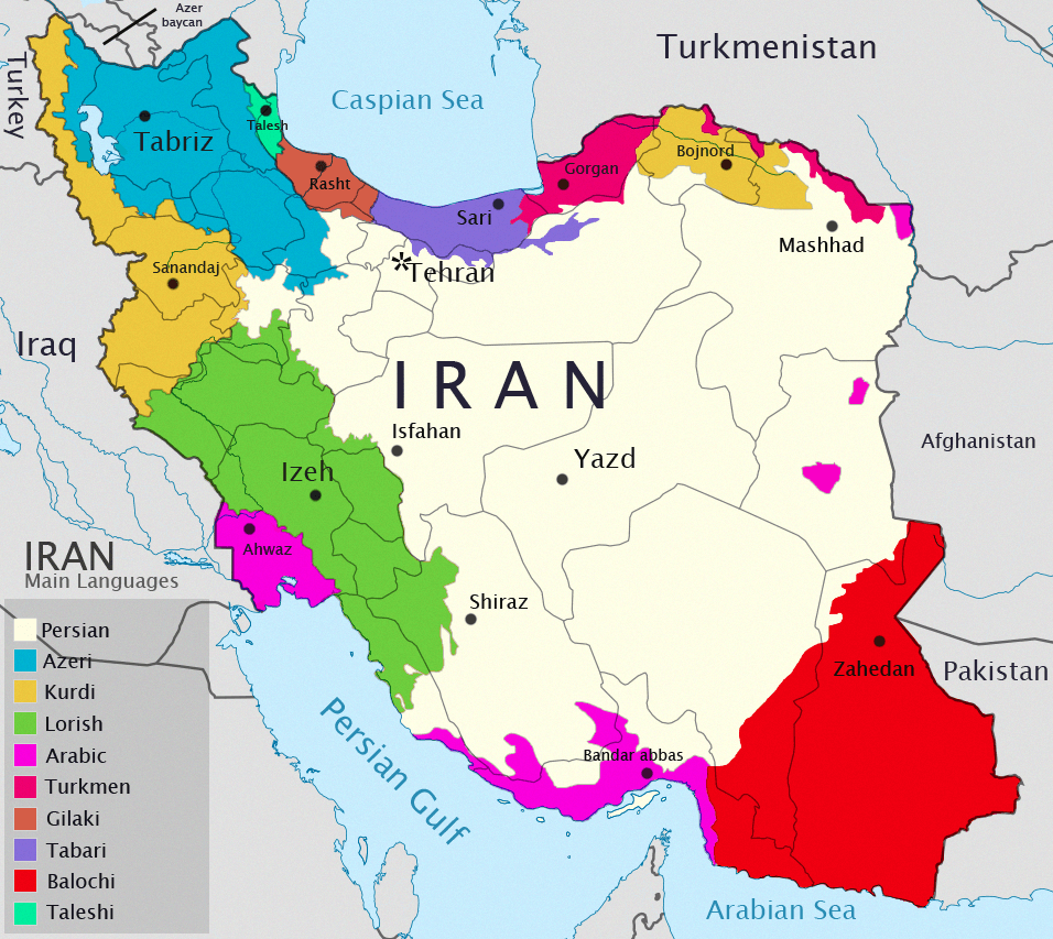 Iran-map-languages